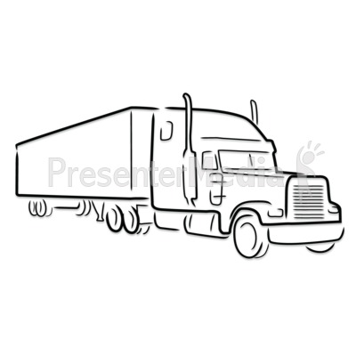 400x400 Drawing Clipart Truck
