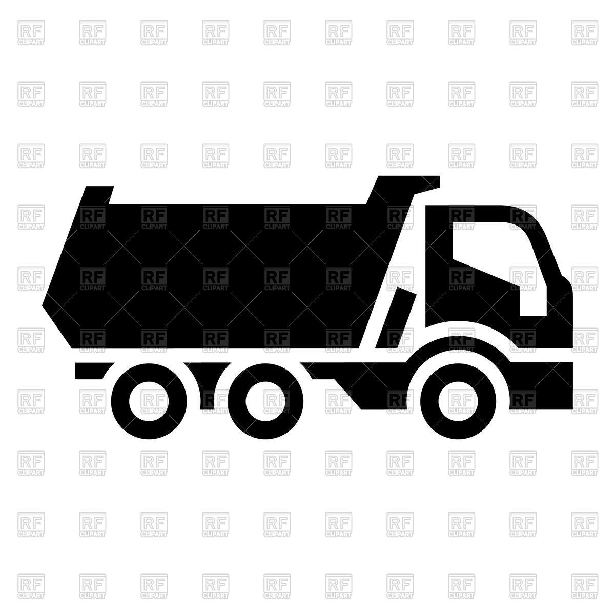 1200x1200 Black Truck Icon Vector Image Vector Artwork Of Signs, Symbols