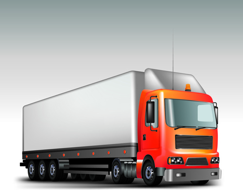 500x391 Realistic Delivery Truck Vector Design Graphics Free Vector In