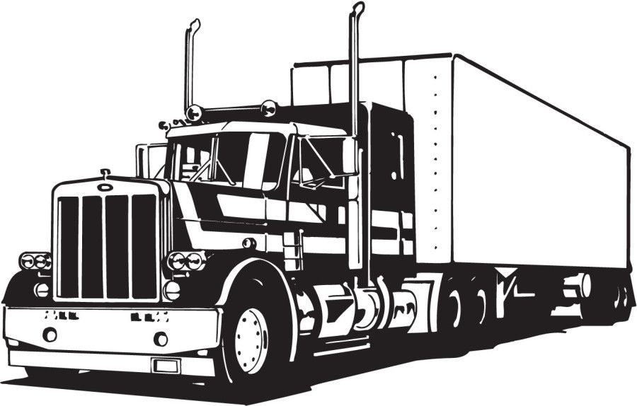 900x574 Semi Truck Vector Art Free Image Result For Antique Truck Coloring