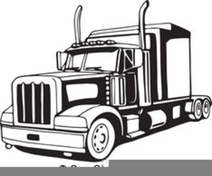 300x249 Semi Truck Vector Clipart Free Images