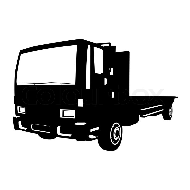 800x800 Small Black Truck, Vector Illustration Stock Vector Colourbox