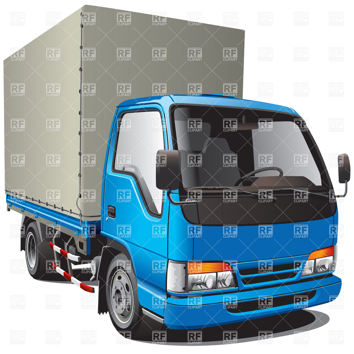 1200x1200 Small Blue Cargo Truck Vector Image Vector Artwork Of