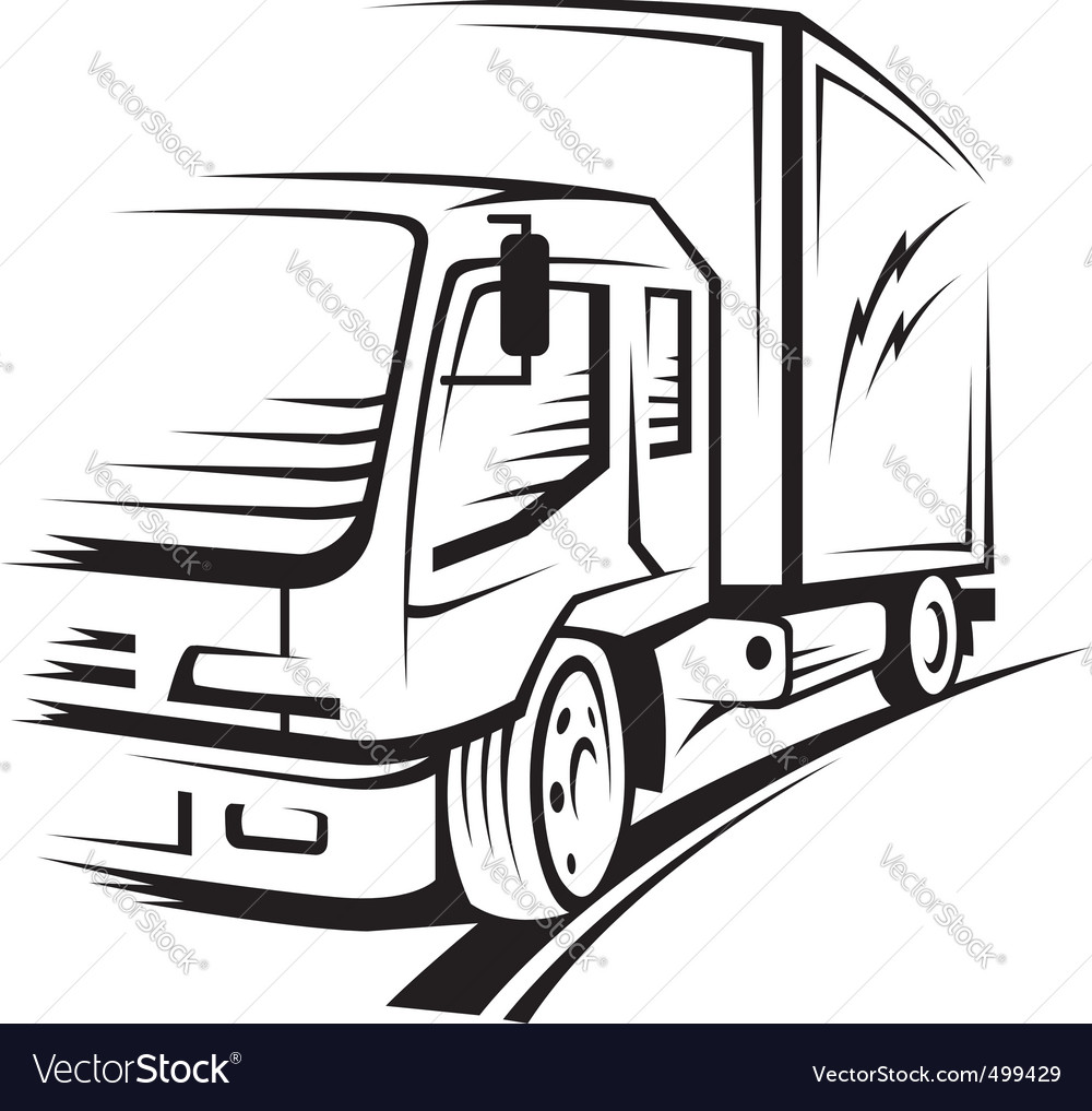 1000x1017 Truck Vector Group With Items