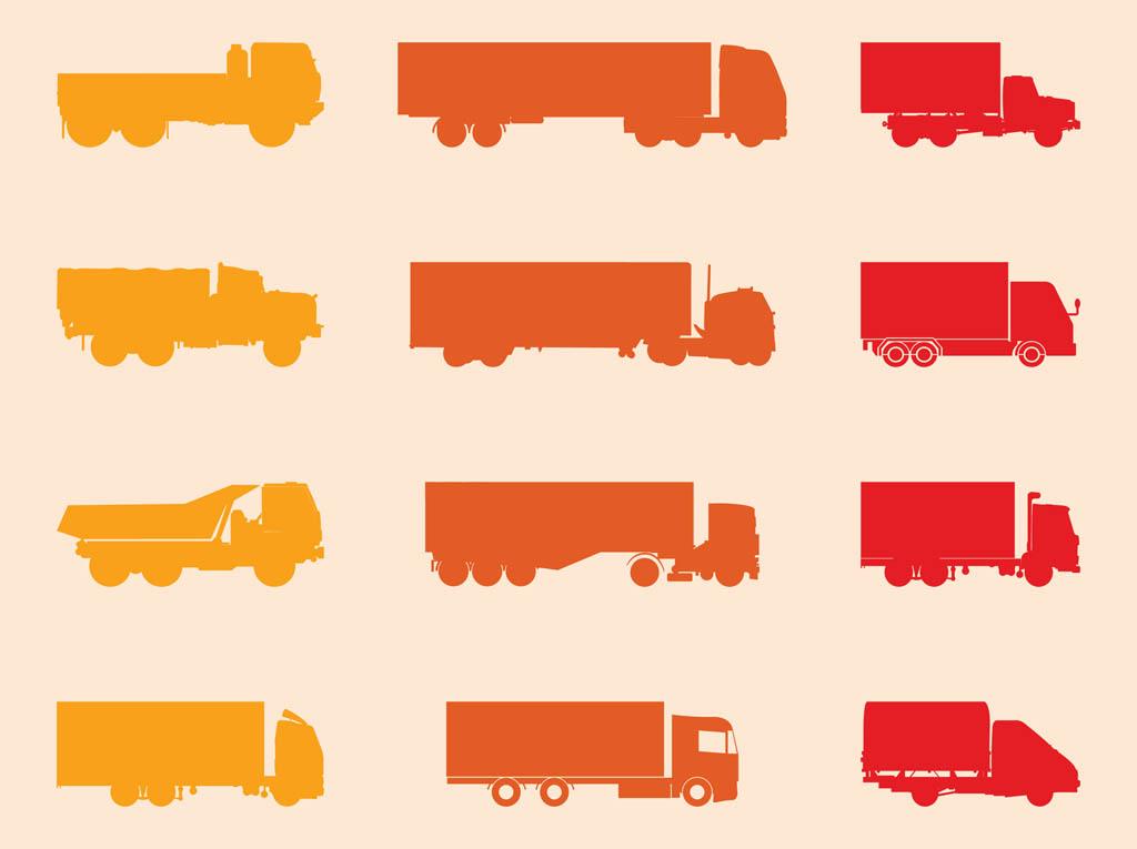 1024x765 Trucks Silhouettes Set Vector Art Amp Graphics