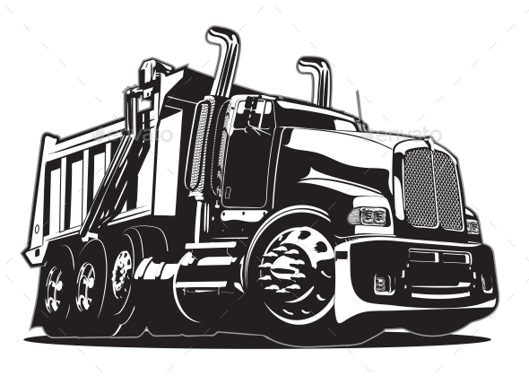 590x419 Vector Cartoon Dump Truck By Mechanik Graphicriver