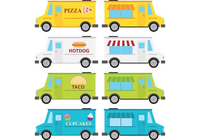 700x490 Food Truck Vectors