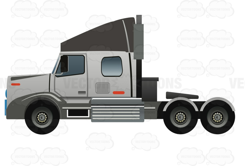 800x542 Free Truck Vector Art Semi Truck Without A Trailer