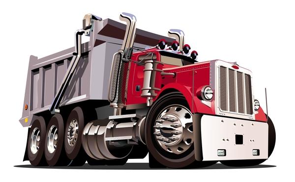 600x371 Cartoon Dump Truck Vector 01 Free Download