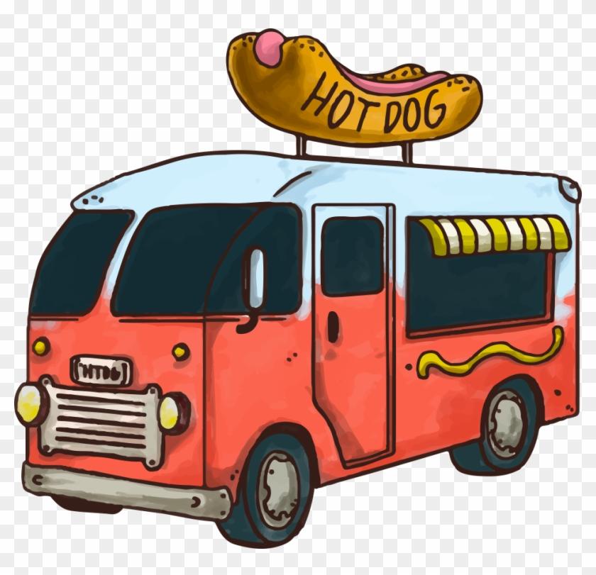840x811 Hot Dog Fast Food Hamburger Car Food Truck