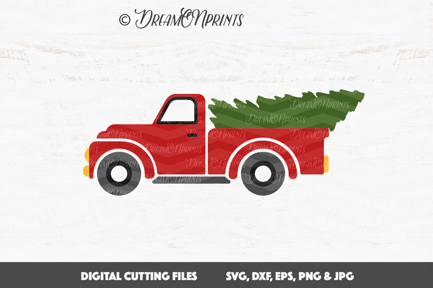 1400x933 Christmas Tree Truck Vector Svg By Dreamonprints