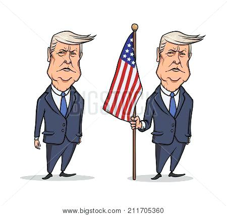 450x428 Donald Trump Vector Caricature Character Of President Standing