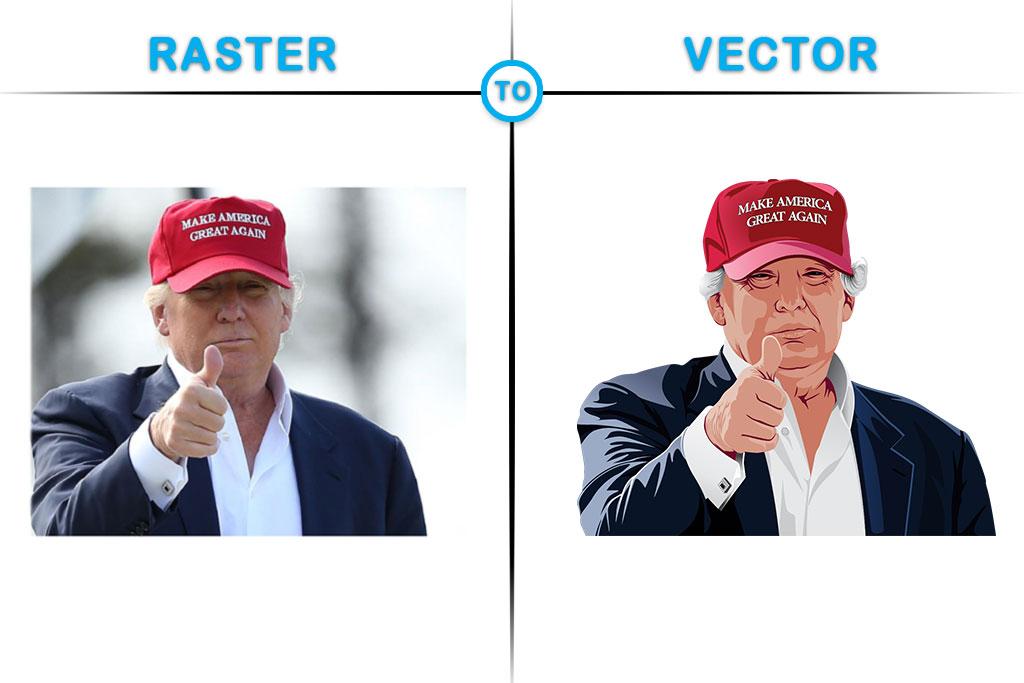 Trump Vector Image