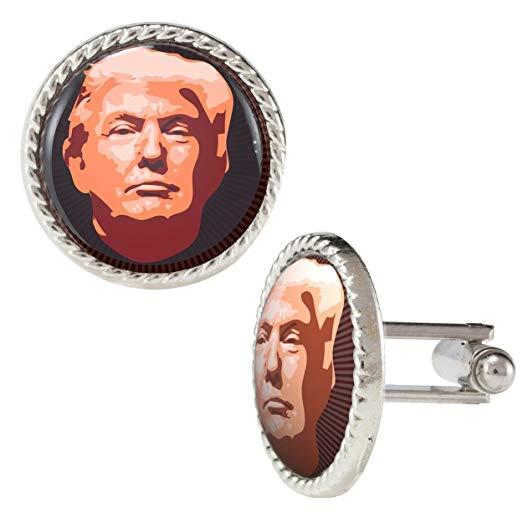 523x523 Donald Trump Vector Image On Lines Cufflinks Jewelry