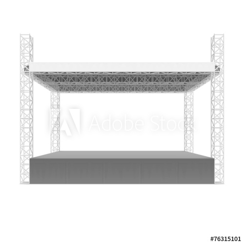 500x500 Outdoor Concert Stage, Truss System