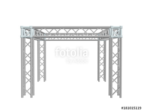 500x389 Truss Construction. Isolated On White Background. 3d Vector