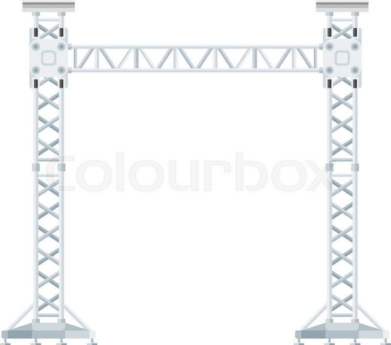 800x706 Vector Flat Design Stage Sound Lighting Aluminum Truss Tower Lift
