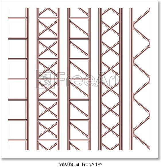 561x581 Free Art Print Of Creative Vector Illustration Of Steel Truss
