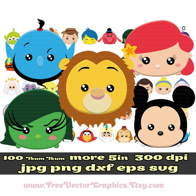 642x642 100 Disney Clipart Disney Tsum Tsum Clipart Svg Png Eps Dxf Etsy