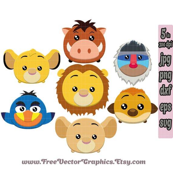 570x570 Disney Svg Tsum Tsum Svg Clipart The Lion King Clipart Lion Etsy