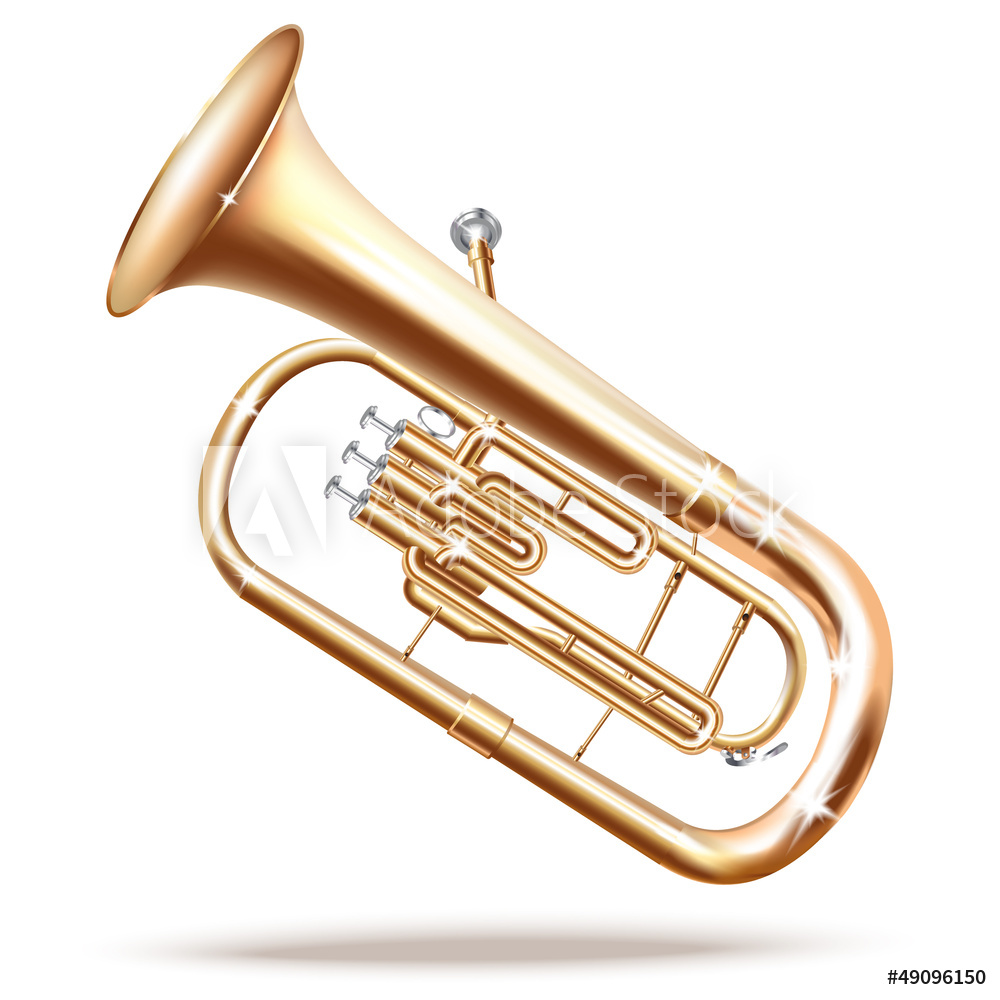 1000x1000 Photo Amp Art Print Classical Baritone Horn Euphonium Tuba