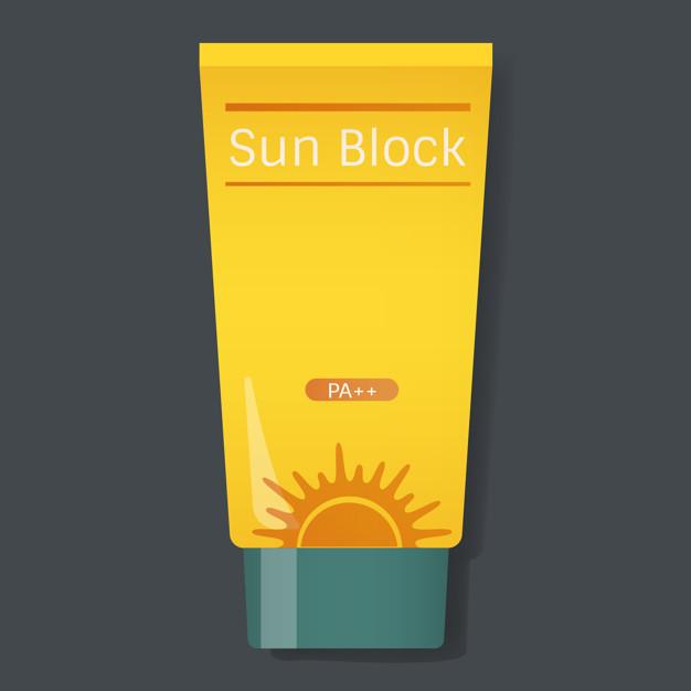 626x626 Sun Block Protection Yellow Tube Vector Illustration Vector Free