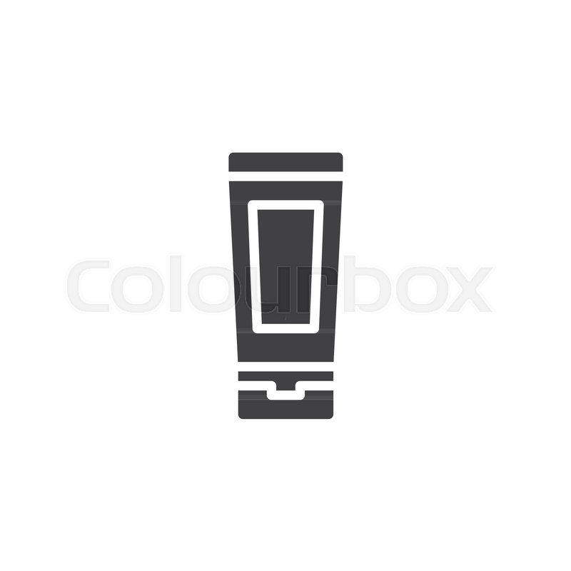 800x800 Toothpaste Tube Vector Icon. Filled Flat Sign For Mobile Concept