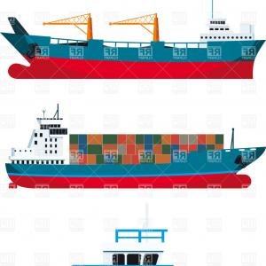 300x300 Freight Vessels Cargo Ship And Tugboat Vector Clipart Sohadacouri