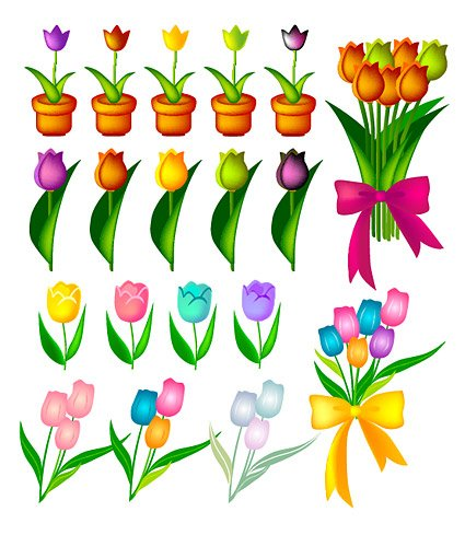 425x489 Free Tulipan Clipart And Vector Graphics