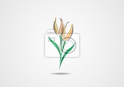 400x282 Resumen De Flores De Vector Logo Vinilos Para