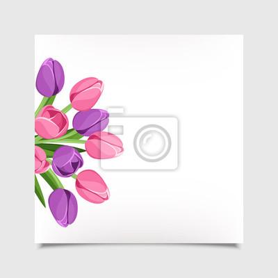 400x400 Tarjeta Del Vector Con Flores De Eps 10. Pinturas Para La