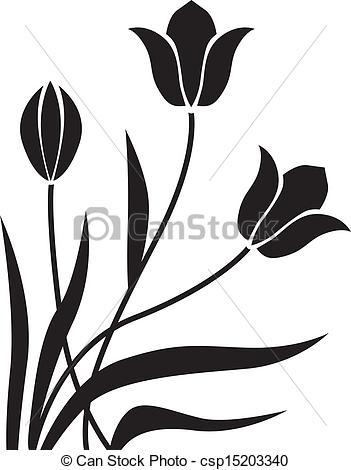 351x470 Tulipan, Baggrund. Ornamental, Tulipaner, Gratulations, Sort Baggrund.