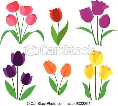 450x402 Tulipanes, Vector, Coloreado. Imagen, Vector.