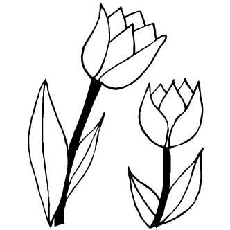 332x332 Vector De Tulipanes