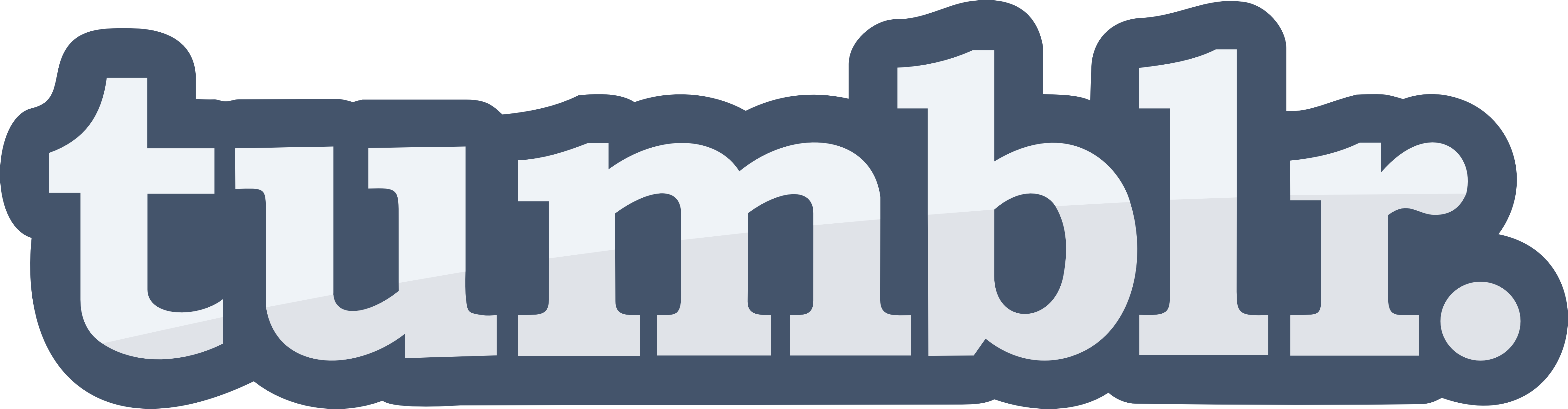 4945x1291 Tumblr Logo Design Vector Free Download
