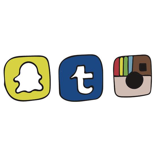 550x550 Snapchat Logo Vector Tumblr Instagram Snapchat Apps Stickers
