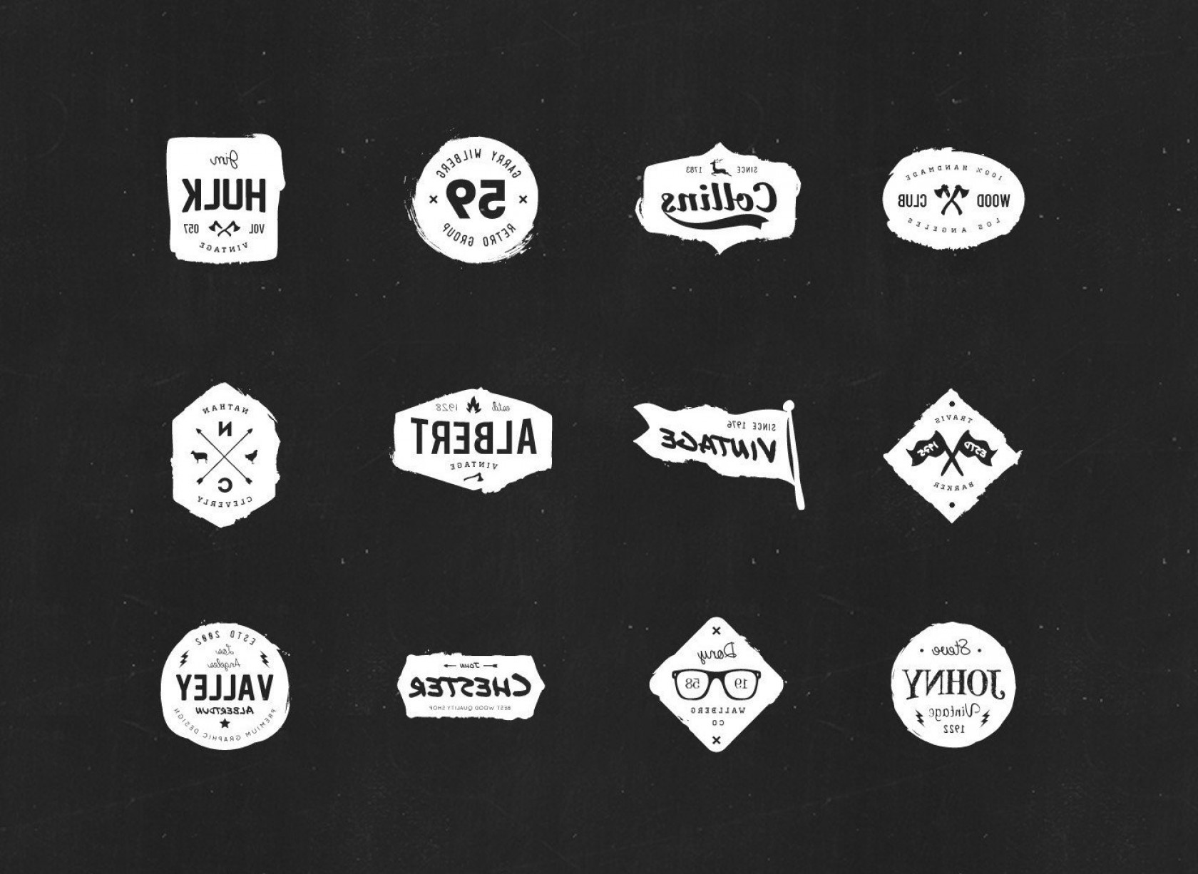 1680x1226 Free Vector Hipster Logo Template Sets Shopatcloth