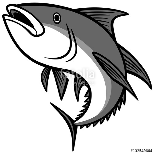 500x500 Tuna Jumping Illustration Stock Image And Royalty Free Vector