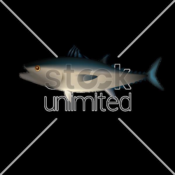 600x600 Yellow Fin Tuna Vector Image