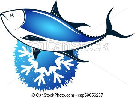450x326 Fresh Frozen Tuna. Tuna Frozen Fresh Sea Food Symbol.
