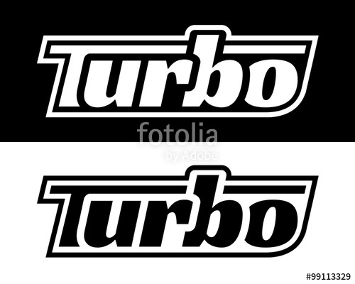 500x400 Performance Vehicle Turbo Badge Stencil. Vector Design. Stock