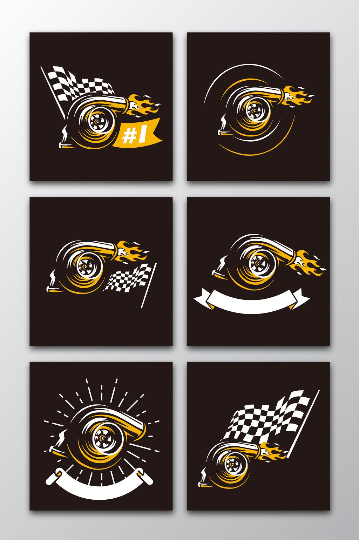 1024x1540 6 Vector Racing Turbo Logos Free Download Pikbest