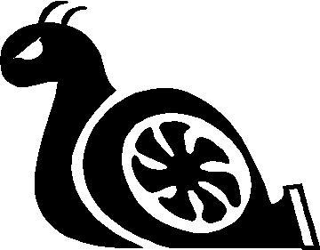 360x281 Animal Decals Turbo Snail Decal Sticker 01