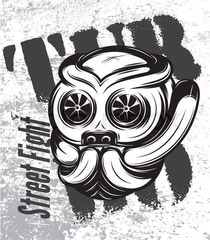 700x800 Illustration Of A Street Fight Titanium Bulldog With Turbo Stock