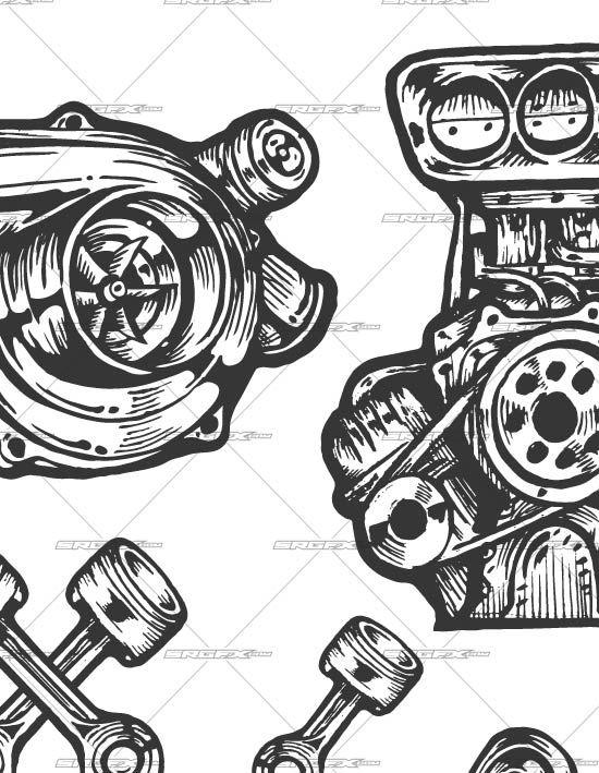 550x709 Resultado De Imagen Para Turbo Vector Maquina Tatting