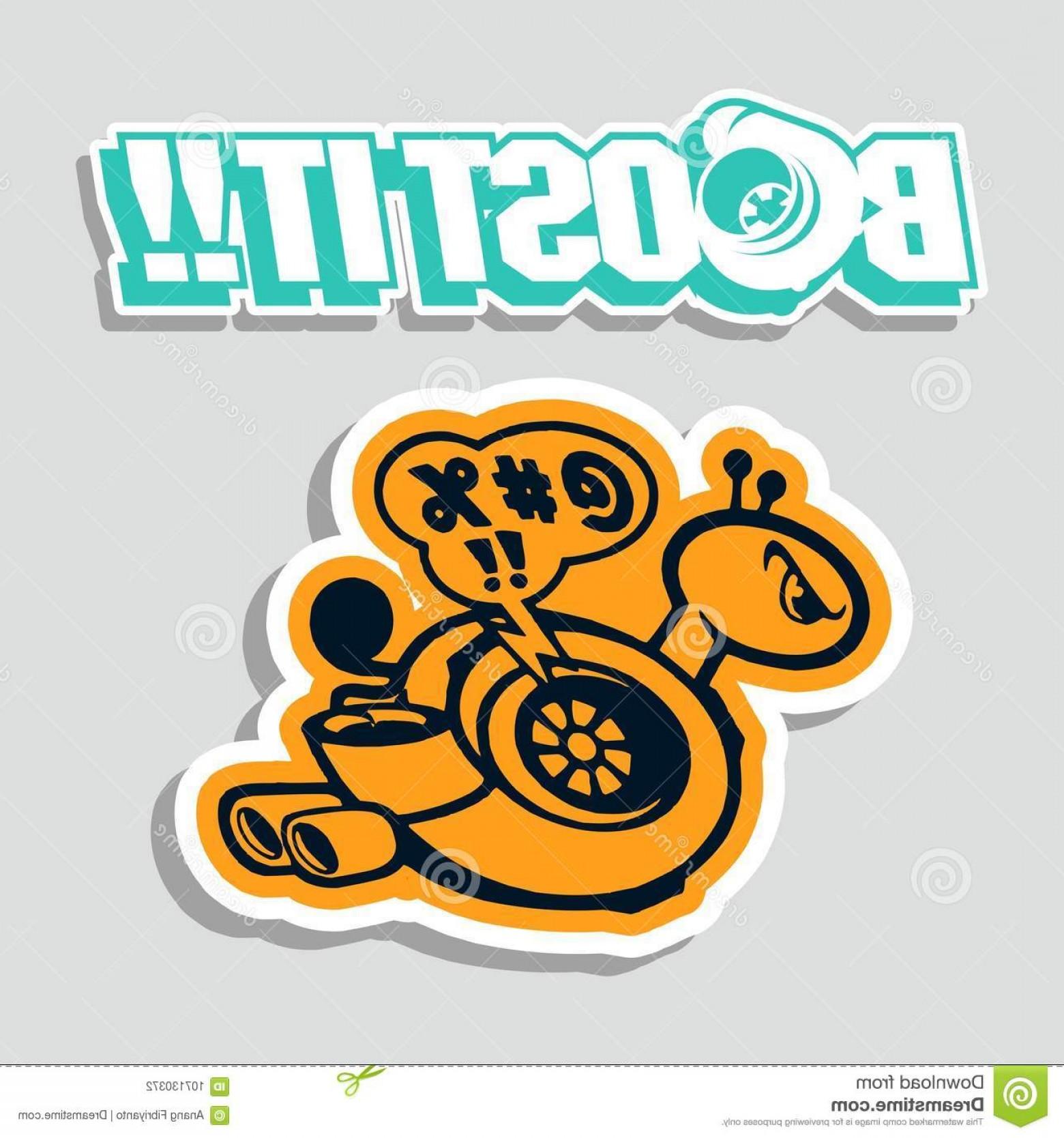 1560x1668 Boost Turbo Vector Design Sticker Car T Shirt Vinyl Stickers