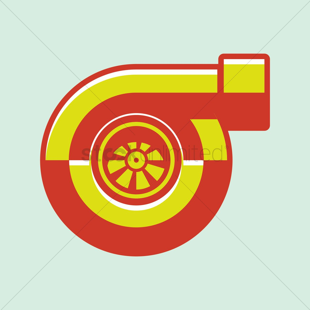 1300x1300 Turbocharger Vector Image