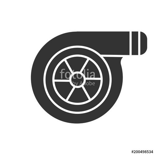 500x500 Turbocharger Glyph Icon Stock Image And Royalty Free Vector Files