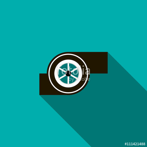 500x500 Turbocharger Icon In Flat Style Stock Image And Royalty Free