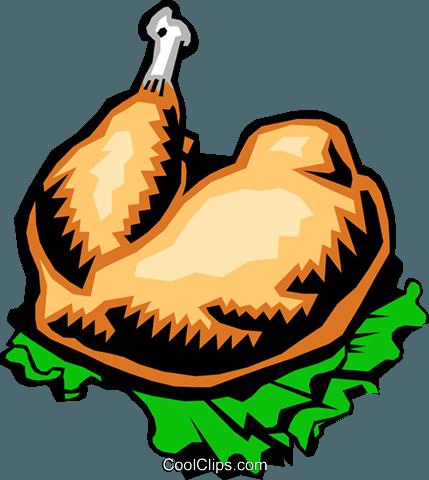 429x480 Turkey Leg Royalty Free Vector Clip Art Illustration Food0171